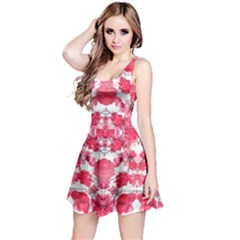 Floral Print Swirls Decorative Design Sleeveless Dress