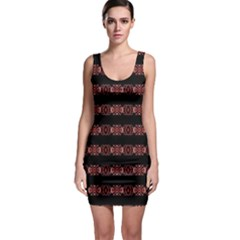Tribal Ornate Geometric Pattern Bodycon Dress