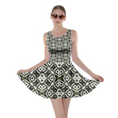 Abstract Geometric Modern Pattern Skater Dress