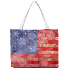 Distressed American Flag Tiny Tote Bag