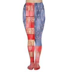 Distressed American Flag Tights