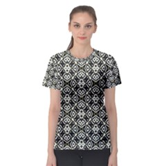 Abstract Geometric Modern Pattern Women s Sport Mesh Tee