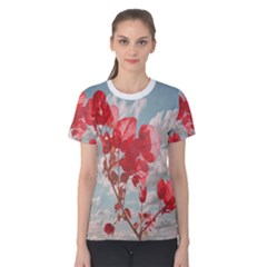 Flowers in the Sky Women s Cotton Tee