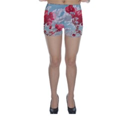 Flowers in the Sky Skinny Shorts