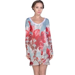 Flowers in the Sky Long Sleeve Nightdress