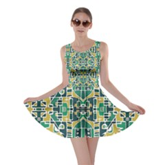 Colorful Tribal Abstract Pattern Skater Dress