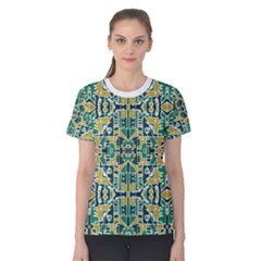 Colorful Tribal Abstract Pattern Women s Cotton Tee
