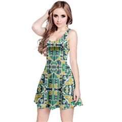 Colorful Tribal Abstract Pattern Sleeveless Dress