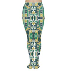 Colorful Tribal Abstract Pattern Tights