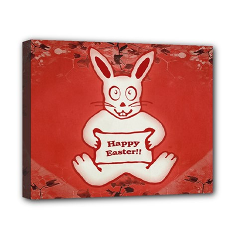 Cute Bunny Happy Easter Drawing Illustration Design Canvas 10  X 8  (framed)