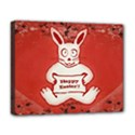 Cute Bunny Happy Easter Drawing Illustration Design Deluxe Canvas 20  x 16  (Framed) View1