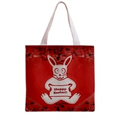 Cute Bunny Happy Easter Drawing Illustration Design Grocery Tote Bag