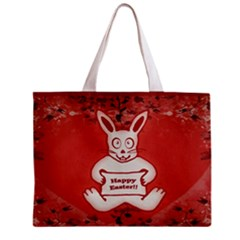 Cute Bunny Happy Easter Drawing Illustration Design Tiny Tote Bag