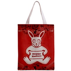 Cute Bunny Happy Easter Drawing Illustration Design Classic Tote Bag