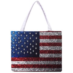 American Flag in Glitter Photograph Tiny Tote Bag