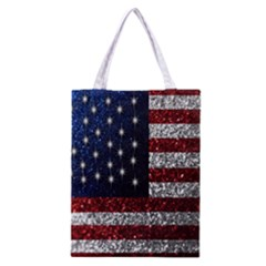 American Flag in Glitter Photograph Classic Tote Bag