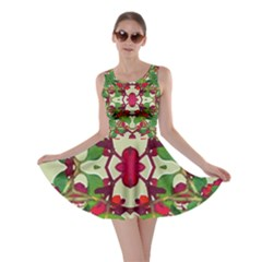 Floral Print Colorful Pattern Skater Dress