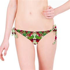 Floral Print Colorful Pattern Bikini Bottom