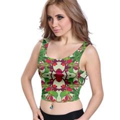 Floral Print Colorful Pattern Crop Top