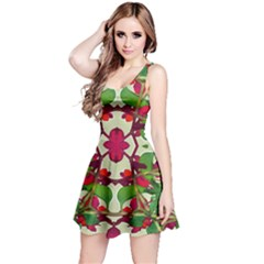 Floral Print Colorful Pattern Sleeveless Dress
