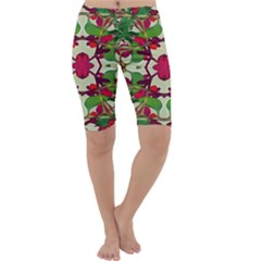 Floral Print Colorful Pattern Cropped Leggings