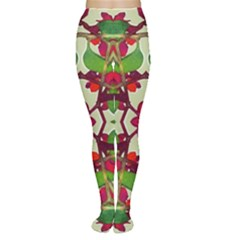 Floral Print Colorful Pattern Tights