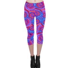 Purple Spirals Capri Leggings