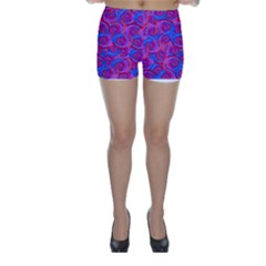 Purple Spirals Skinny Shorts