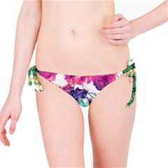 Multicolored Floral Swirls Decorative H Bikini Bottom
