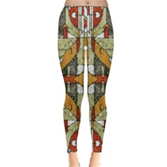 Multicolored Abstract Tribal Print Leggings