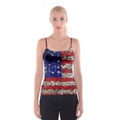 American Flag Mosaic Spaghetti Strap Top
