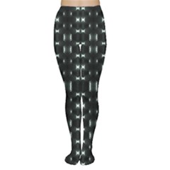 Futuristic Dark Hexagonal Grid Pattern Design Tights