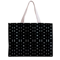 Futuristic Dark Hexagonal Grid Pattern Design Tiny Tote Bag