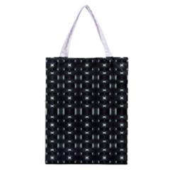 Futuristic Dark Hexagonal Grid Pattern Design Classic Tote Bag