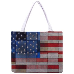American Flag Quilt Tiny Tote Bag