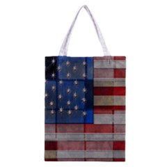 American Flag Quilt Classic Tote Bag
