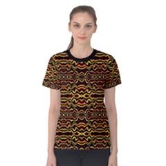 Tribal Art Abstract Pattern  Women s Cotton Tee