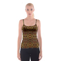 Tribal Art Abstract Pattern  Spaghetti Strap Top