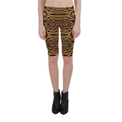 Tribal Art Abstract Pattern  Cropped Leggings