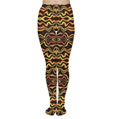 Tribal Art Abstract Pattern  Tights