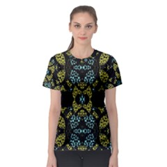 Ornate Dark Pattern Women s Sport Mesh Tee
