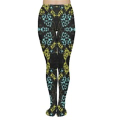 Ornate Dark Pattern Tights