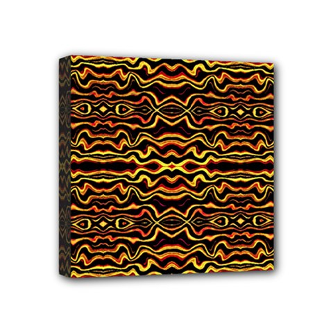 Tribal Art Abstract Pattern Mini Canvas 4  X 4  (framed)