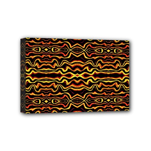 Tribal Art Abstract Pattern Mini Canvas 6  X 4  (framed)