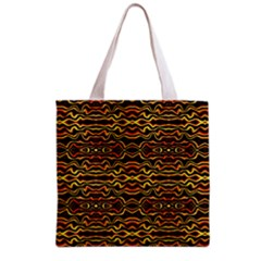 Tribal Art Abstract Pattern Grocery Tote Bag