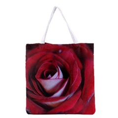 Red Rose Center Grocery Tote Bag