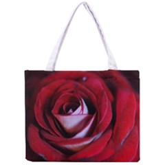 Red Rose Center Tiny Tote Bag