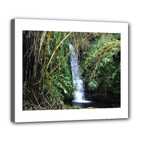 Bamboo Waterfall Deluxe Canvas 24  X 20  (framed)