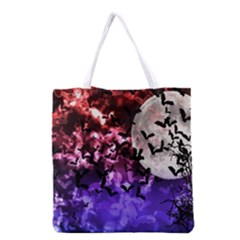 Bokeh Bats In Moonlight Grocery Tote Bag