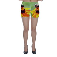 Bee on a Flower Skinny Shorts